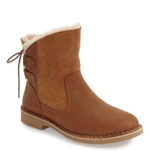 UGG Naiyah genuine shearling lace back boots
